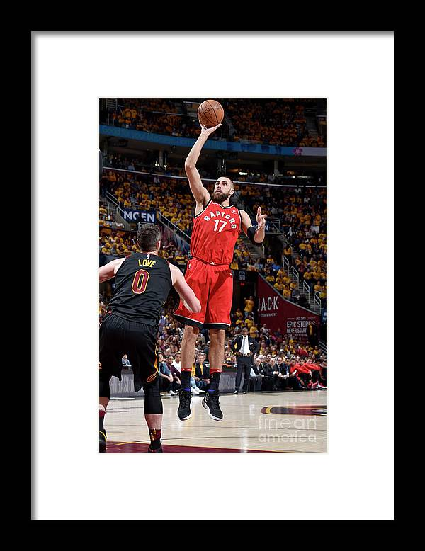 Playoffs Framed Print featuring the photograph Toronto Raptors V Cleveland Cavaliers - by David Liam Kyle