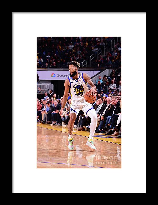 San Francisco Framed Print featuring the photograph Utah Jazz V Golden State Warriors by Noah Graham