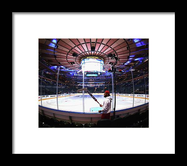 Playoffs Framed Print featuring the photograph Washington Capitals V New York Rangers by Bruce Bennett