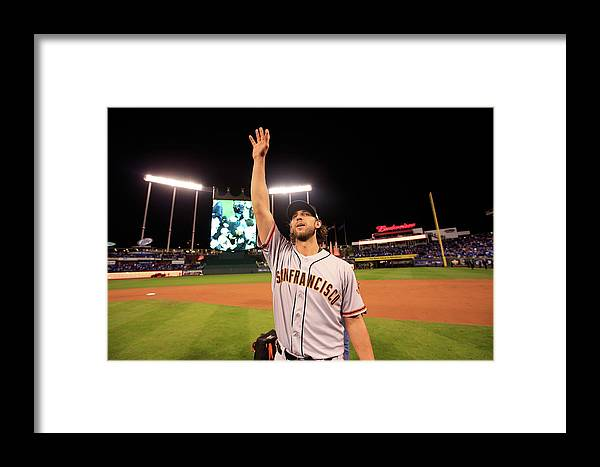 People Framed Print featuring the photograph World Series - San Francisco Giants V 10 by Jamie Squire