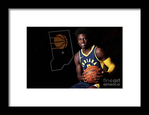 Media Day Framed Print featuring the photograph 2018-19 Indiana Pacers Media Day by Ron Hoskins