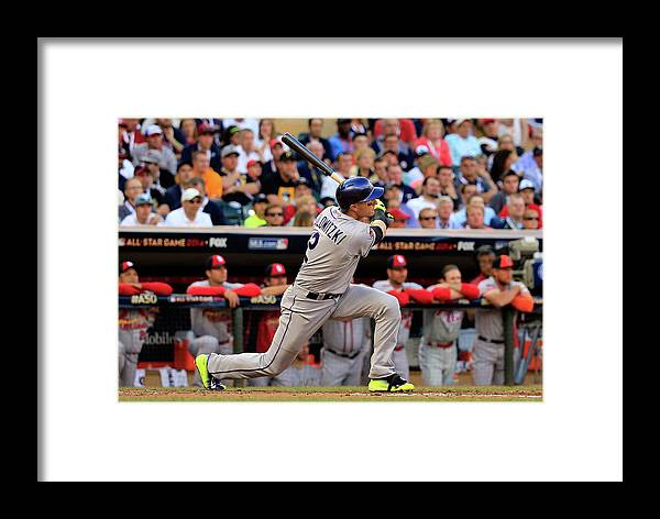 American League Baseball Framed Print featuring the photograph 85th Mlb All Star Game 11 by Rob Carr