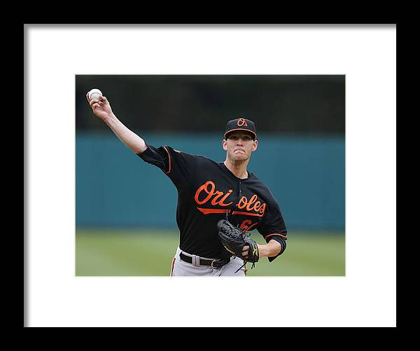 American League Baseball Framed Print featuring the photograph Baltimore Orioles V Detroit Tigers by Leon Halip