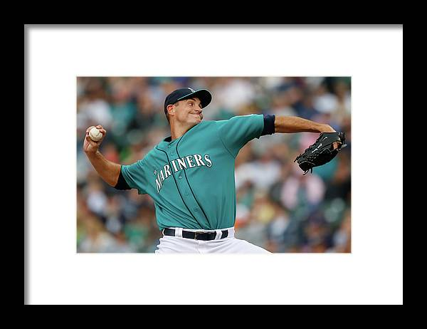 American League Baseball Framed Print featuring the photograph Cleveland Indians V Seattle Mariners by Otto Greule Jr