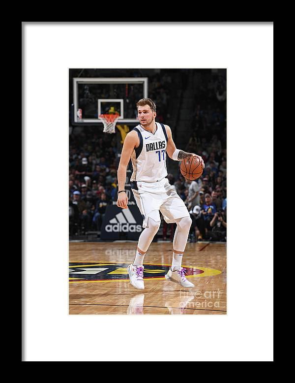 Nba Pro Basketball Framed Print featuring the photograph Dallas Mavericks V Denver Nuggets by Garrett Ellwood