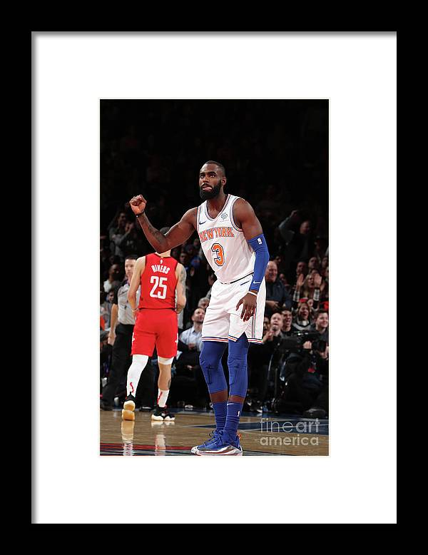 Tim Hardaway Jr. Framed Print featuring the photograph Houston Rockets V New York Knicks by Nathaniel S. Butler