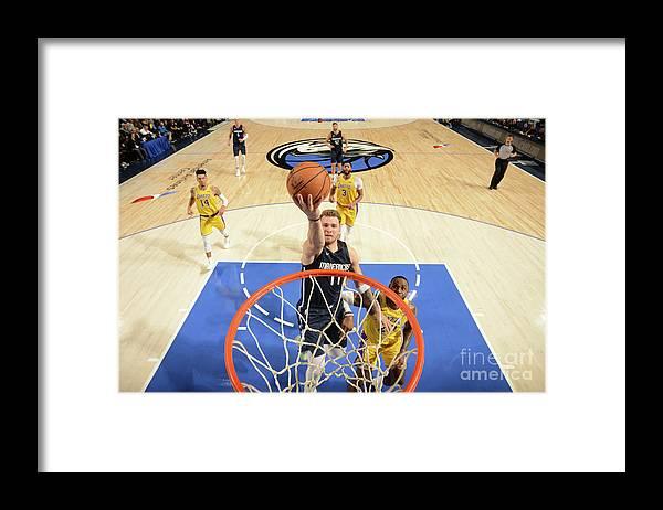 Nba Pro Basketball Framed Print featuring the photograph Los Angeles Lakers V Dallas Mavericks by Glenn James