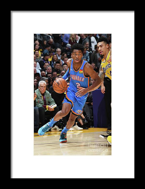 Nba Pro Basketball Framed Print featuring the photograph Oklahoma City Thunder V Los Angeles by Andrew D. Bernstein