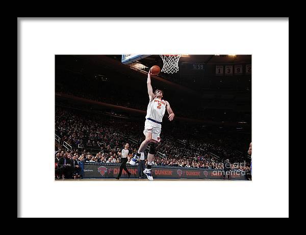 Nba Pro Basketball Framed Print featuring the photograph Philadelphia 76ers V New York Knicks by Nathaniel S. Butler