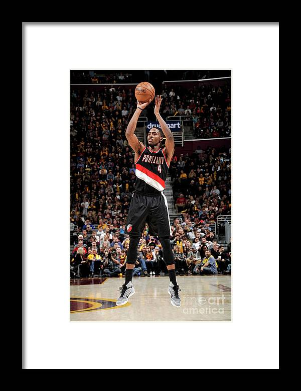 Moe Harkless Framed Print featuring the photograph Portland Trail Blazers V Cleveland by David Liam Kyle