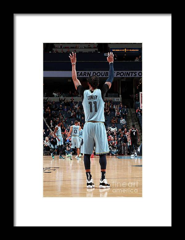 Nba Pro Basketball Framed Print featuring the photograph Portland Trail Blazers V Memphis by Joe Murphy