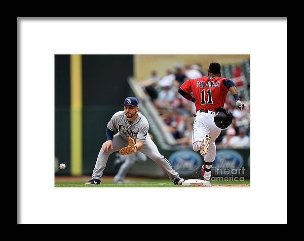 People Framed Print featuring the photograph Tampa Bay Rays V Minnesota Twins 11 by Hannah Foslien