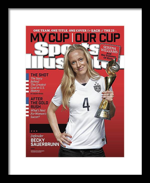 Magazine Cover Framed Print featuring the photograph Us Womens National Team 2015 Fifa Womens World Cup Champions Sports Illustrated Cover by Sports Illustrated