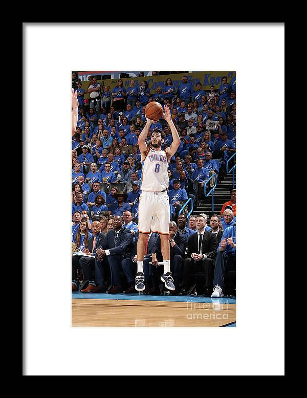 Playoffs Framed Print featuring the photograph Utah Jazz V Oklahoma City Thunder - by Layne Murdoch