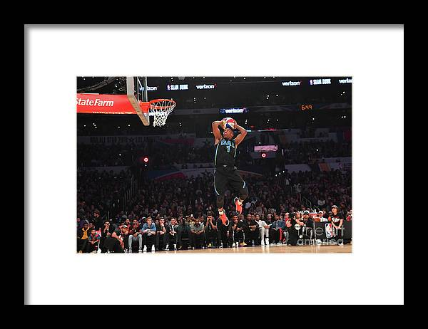 Event Framed Print featuring the photograph Verizon Slam Dunk Contest 2018 by Jesse D. Garrabrant
