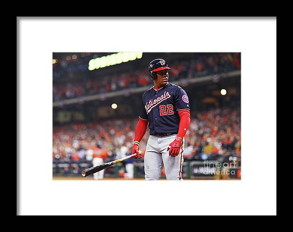 Three Quarter Length Framed Print featuring the photograph World Series - Washington Nationals V 11 by Mike Ehrmann