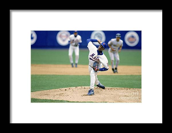 Dwight Gooden Framed Print featuring the photograph Mlb Photos Archive 118 by Rich Pilling