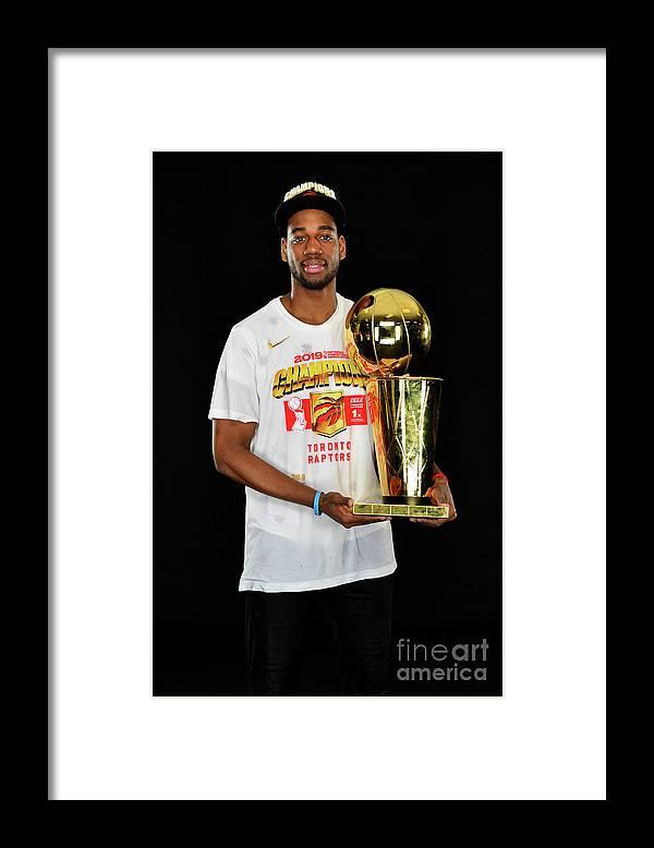 Playoffs Framed Print featuring the photograph 2019 Nba Finals Portraits by Jesse D. Garrabrant