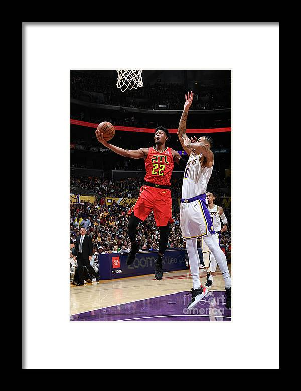 Nba Pro Basketball Framed Print featuring the photograph Atlanta Hawks V Los Angeles Lakers by Andrew D. Bernstein