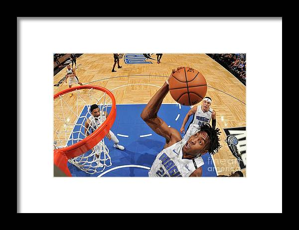 Nba Pro Basketball Framed Print featuring the photograph Brooklyn Nets V Orlando Magic by Fernando Medina