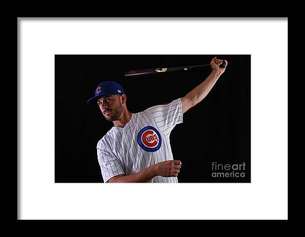 Media Day Framed Print featuring the photograph Chicago Cubs Photo Day 12 by Gregory Shamus