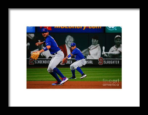 People Framed Print featuring the photograph Chicago Cubs V St Louis Cardinals 12 by Dilip Vishwanat