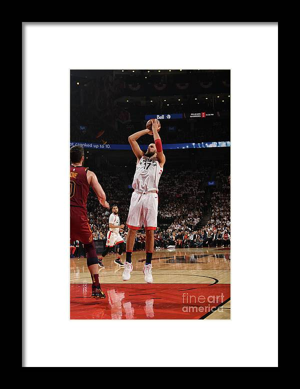 Playoffs Framed Print featuring the photograph Cleveland Cavaliers V Toronto Raptors - by Ron Turenne