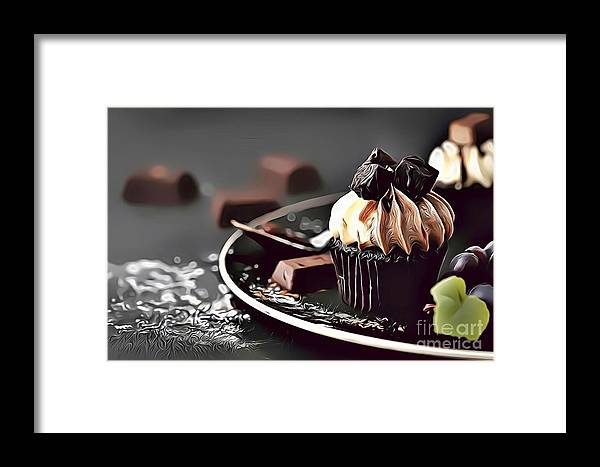 Urban Framed Print featuring the digital art 12 Eat Me Now by Leo Rodriguez