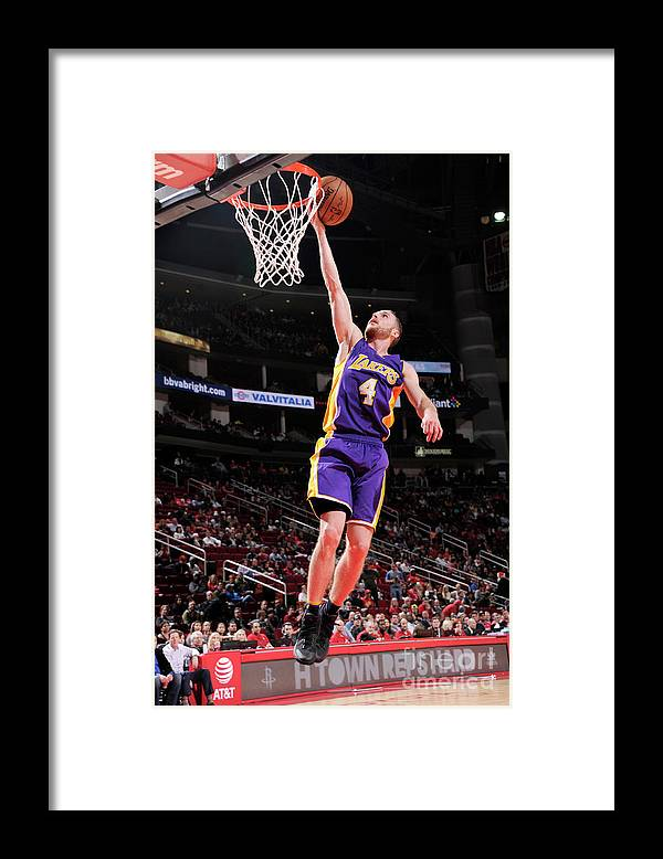 Nba Pro Basketball Framed Print featuring the photograph Los Angeles Lakers V Houston Rockets by Bill Baptist
