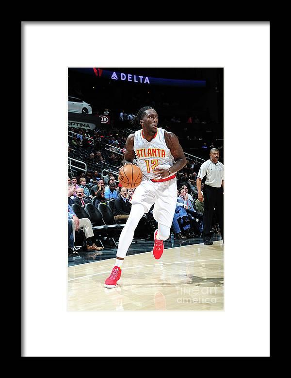 Atlanta Framed Print featuring the photograph Milwaukee Bucks V Atlanta Hawks by Scott Cunningham