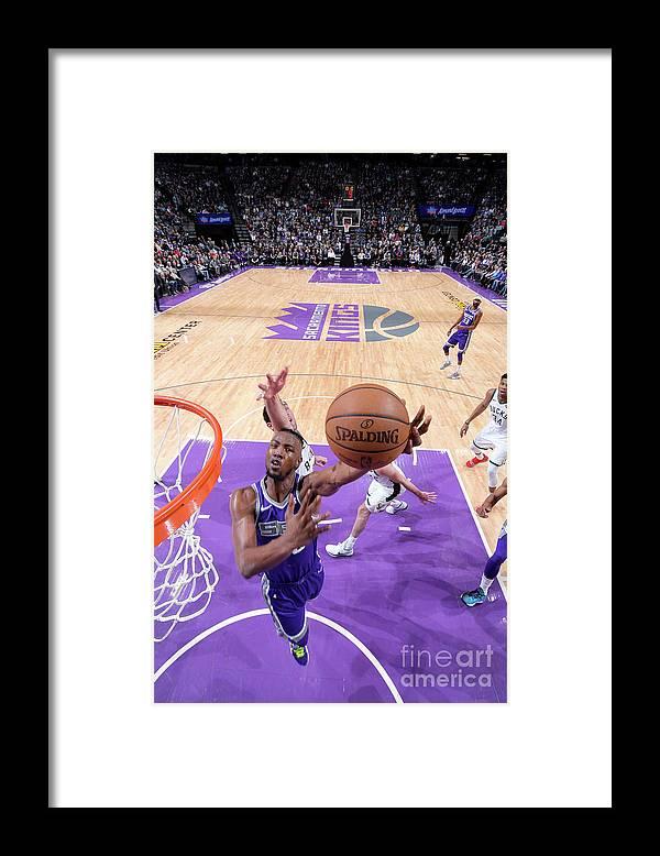 Nba Pro Basketball Framed Print featuring the photograph Milwaukee Bucks V Sacramento Kings by Rocky Widner