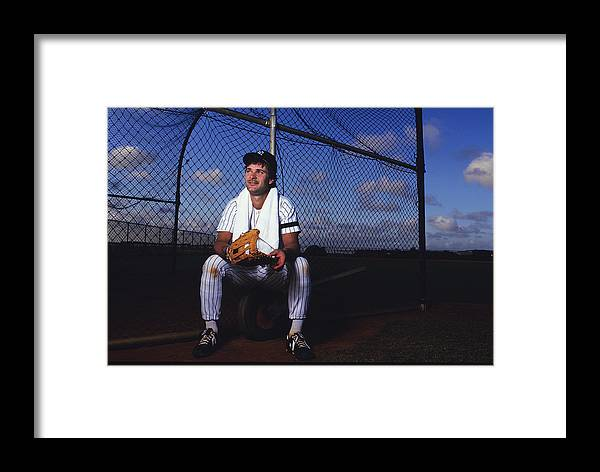 1980-1989 Framed Print featuring the photograph New York Yankees 12 by Ronald C. Modra/sports Imagery