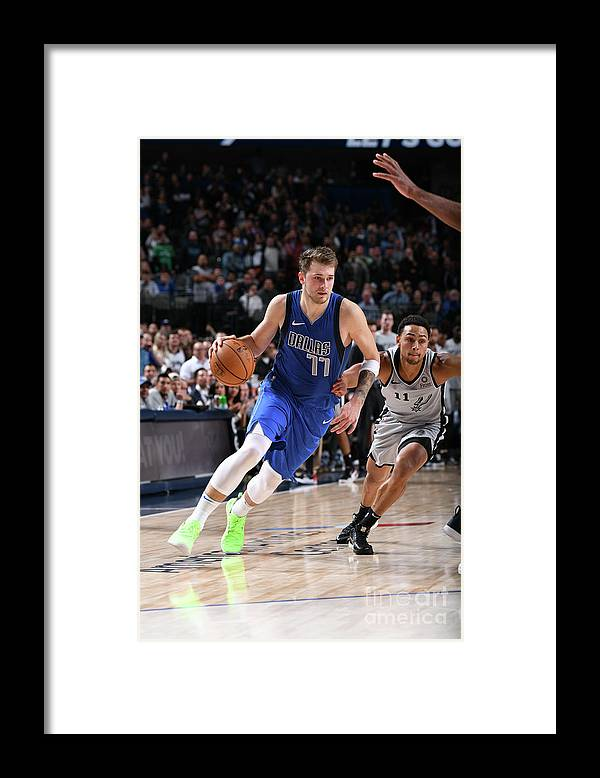 Nba Pro Basketball Framed Print featuring the photograph San Antonio Spurs V Dallas Mavericks by Glenn James