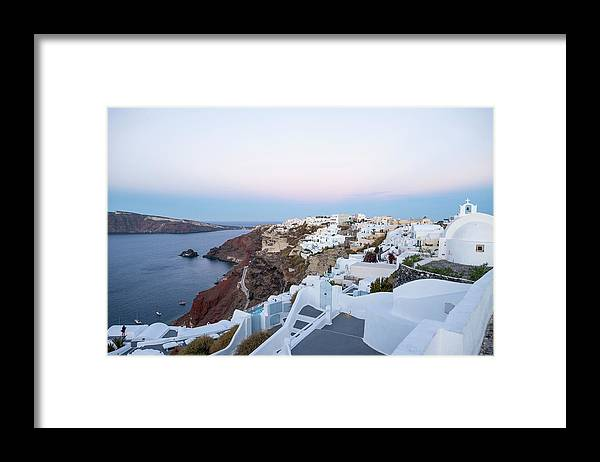 Tranquility Framed Print featuring the photograph Santorini Greece by Neil Emmerson