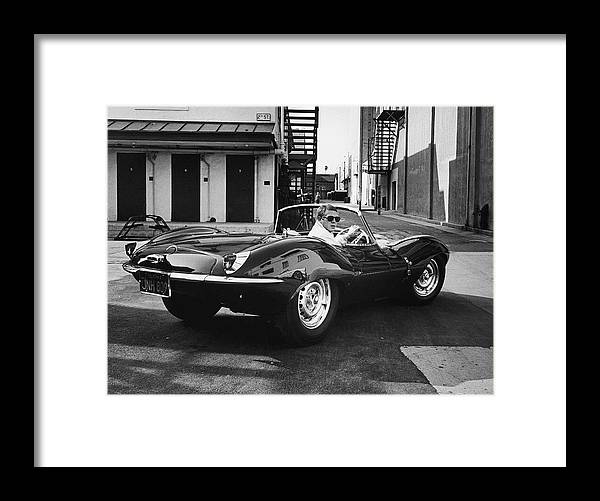 Timeincown Framed Print featuring the photograph Steve Mcqueen by John Dominis