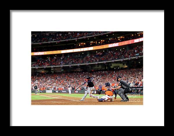 American League Baseball Framed Print featuring the photograph World Series - Washington Nationals V 12 by Mike Ehrmann