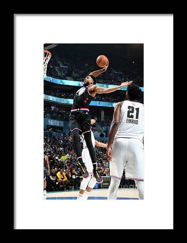Nba Pro Basketball Framed Print featuring the photograph 2019 Nba All-star Game by Andrew D. Bernstein