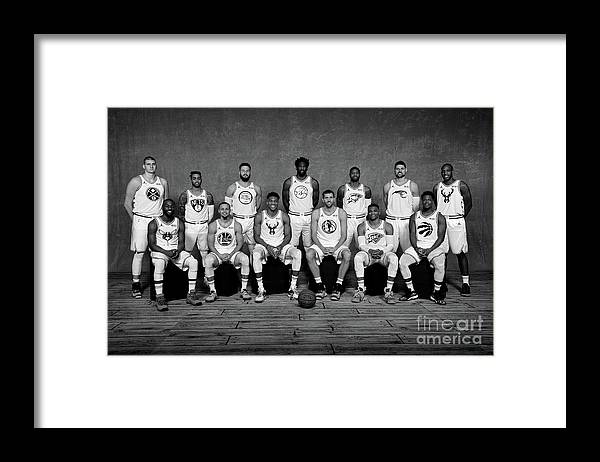 Kemba Walker Framed Print featuring the photograph 2019 Nba All Star Portraits by Jesse D. Garrabrant