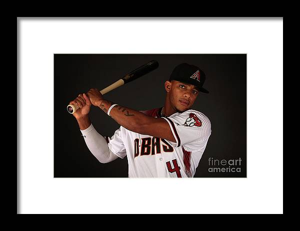 Media Day Framed Print featuring the photograph Arizona Diamondbacks Photo Day by Christian Petersen