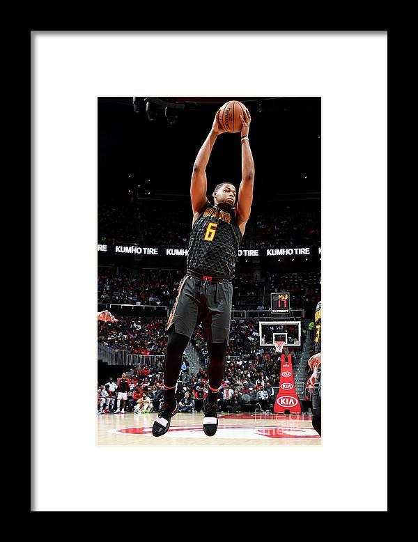 Atlanta Framed Print featuring the photograph Chicago Bulls V Atlanta Hawks by Scott Cunningham