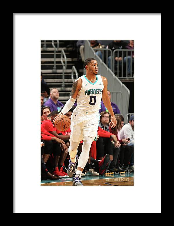 Nba Pro Basketball Framed Print featuring the photograph Chicago Bulls V Charlotte Hornets by Kent Smith