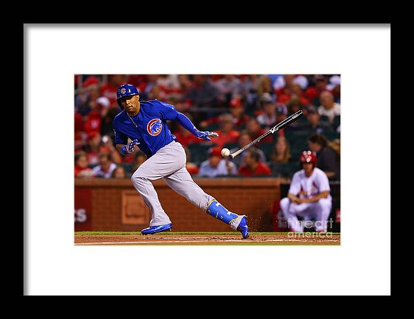 People Framed Print featuring the photograph Chicago Cubs V St Louis Cardinals by Dilip Vishwanat