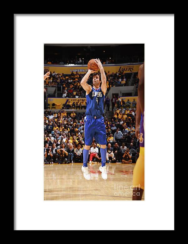 Nba Pro Basketball Framed Print featuring the photograph La Clippers V Los Angeles Lakers by Andrew D. Bernstein