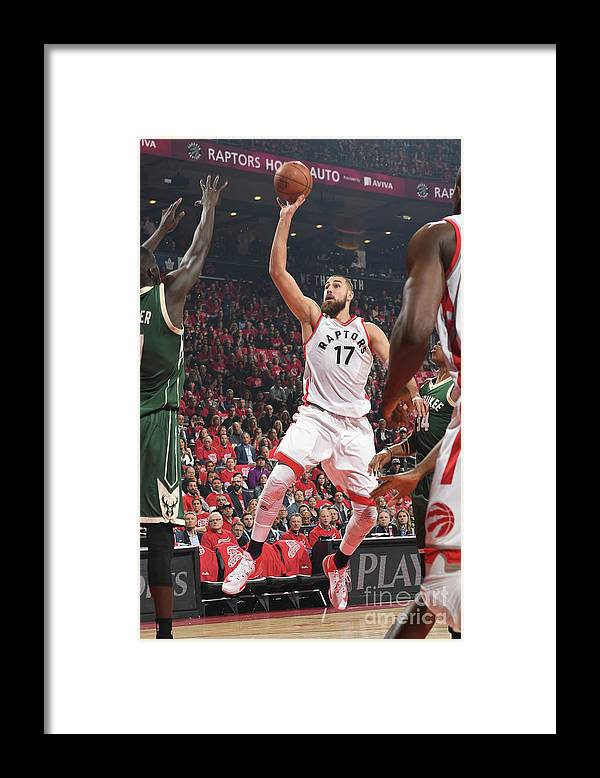 Playoffs Framed Print featuring the photograph Milwaukee Bucks V Toronto Raptors - by Ron Turenne