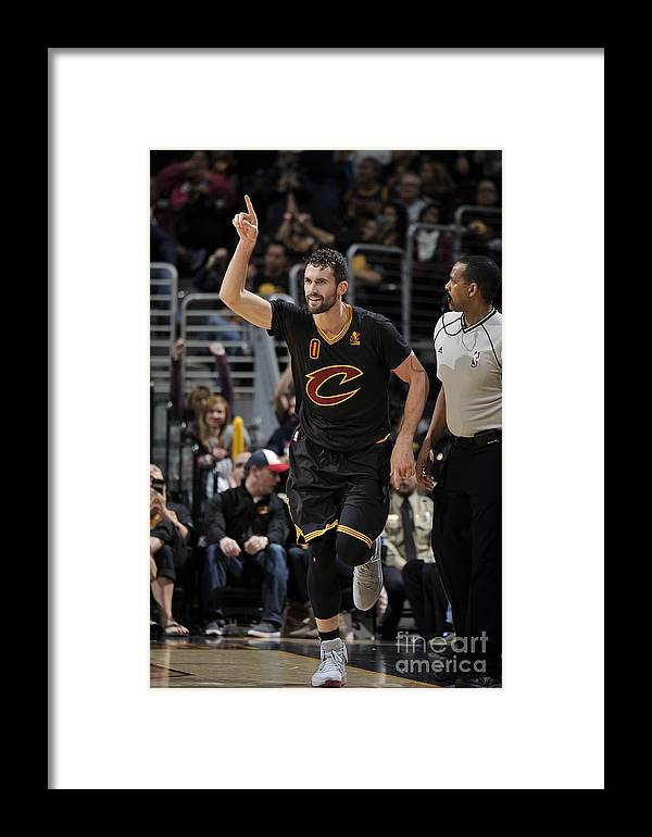 Nba Pro Basketball Framed Print featuring the photograph New York Knicks V Cleveland Cavaliers 13 by David Liam Kyle