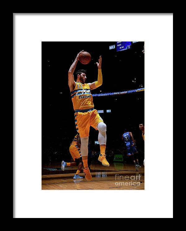 Jusuf Nurkić Framed Print featuring the photograph Oklahoma City Thunder V Denver Nuggets by Bart Young