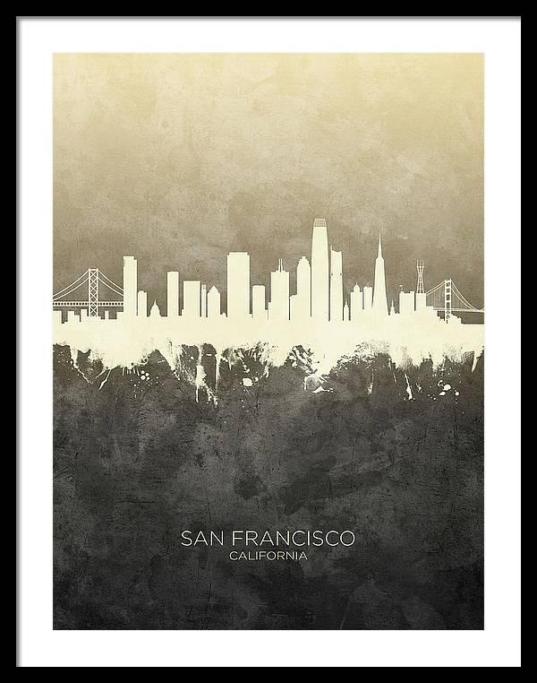 San Francisco California Skyline by Michael Tompsett