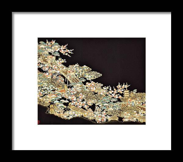 Framed Print featuring the digital art Spirit of Japan T73 by Miho Kanamori