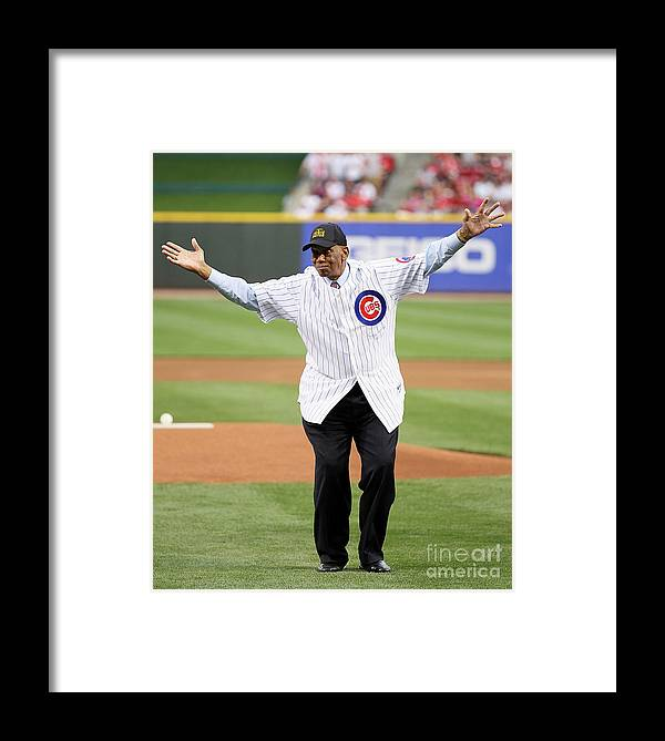 Great American Ball Park Framed Print featuring the photograph St. Louis Cardinals V Cincinnati Reds 13 by Andy Lyons