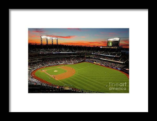 Residential District Framed Print featuring the photograph Washington Nationals V New York Mets by Jim Mcisaac